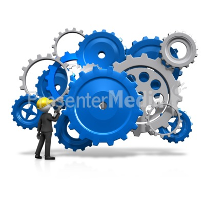 Gears Inspection Check PowerPoint Clip Art