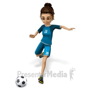 ID# 21531 - Lainee Soccer Kick - Presentation Clipart