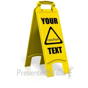 ID# 21532 - Caution Floor Sign - Presentation Clipart
