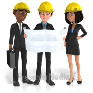 ID# 21594 - Business Group Plans - Presentation Clipart