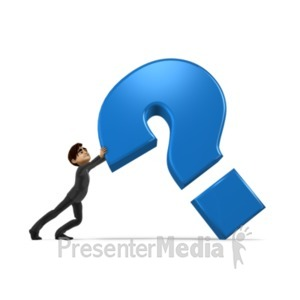ID# 21596 - Holding Up Question Mark - Presentation Clipart