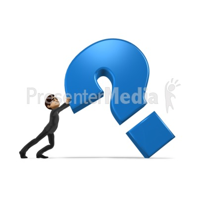 Holding Up Question Mark PowerPoint Clip Art