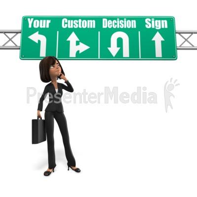 Woman Sign Decision Presentation clipart