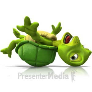 ID# 21627 - Turtle Stuck Flipped Over - Presentation Clipart
