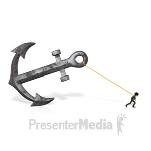 ID# 21649 - Anchor Business Pull Brad - Presentation Clipart