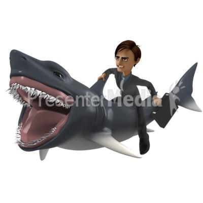 Businessman Shark PowerPoint Clip Art