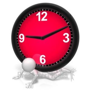 ID# 21654 - Pressure Under The Clock - Presentation Clipart