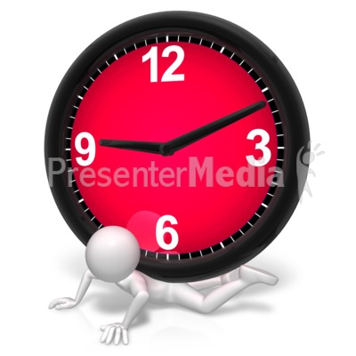 Pressure Under The Clock PowerPoint Clip Art