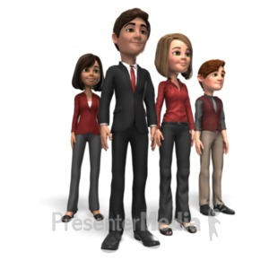 ID# 21673 - Business People Team - Presentation Clipart