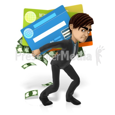 Grant Has More Debt PowerPoint Clip Art