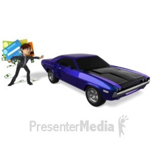 ID# 21682 - Grant Tempted To Buy Car - Presentation Clipart