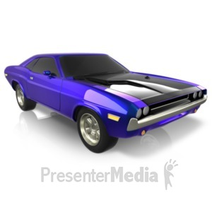 ID# 21683 - Sports Car Beauty - Presentation Clipart