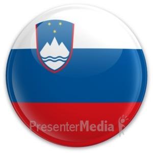 ID# 21716 - Slovenian Flag Button - Presentation Clipart