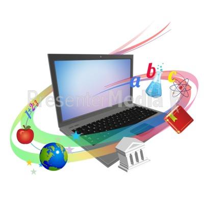 Laptop Swirl Teaching PowerPoint Clip Art