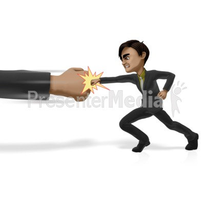 Punching Powers That Be PowerPoint Clip Art