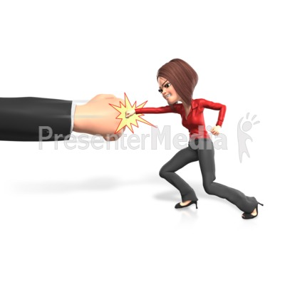 Punching The Powers That Be PowerPoint Clip Art