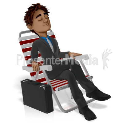 Business Vacation Brad Relax PowerPoint Clip Art