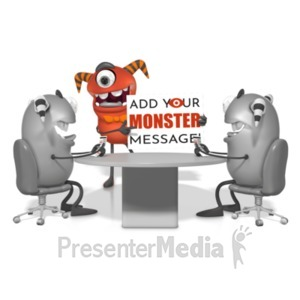 ID# 21769 - Monster Meeting - Presentation Clipart