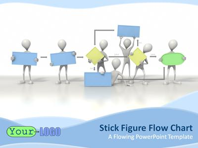 Stick Figure Flowchart PowerPoint Template
