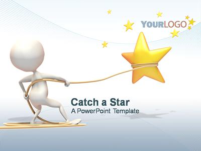 Catch A Star PowerPoint Template