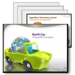 ID# 319 Earth Car PowerPoint Template