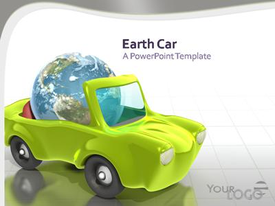 ID# 319 - Earth Car - PowerPoint Template