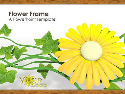 ID# 321 - Flowery Frame - PowerPoint Template