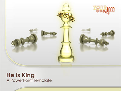 ID# 323 - He Is King - PowerPoint Template