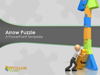 ID# 330 - Puzzle Arrow - PowerPoint Template