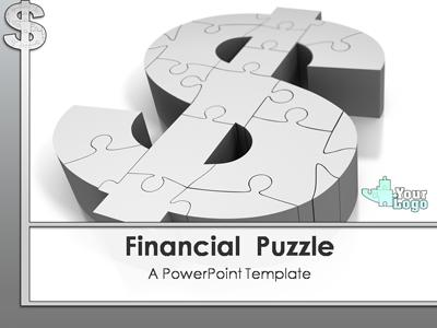 financial puzzle - a powerpoint template from presentermedia, Modern powerpoint