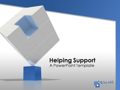 ID# 364 - Helping Support - PowerPoint Template