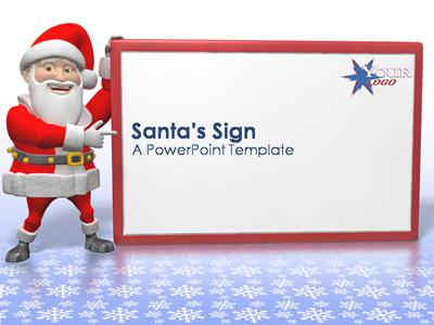 ID# 369 - Santa's Sign - PowerPoint Template