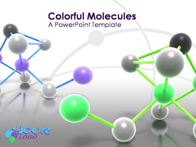atom molecule - a powerpoint template from presentermedia, Powerpoint templates