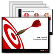 ID# 373 On Target Darts PowerPoint Template