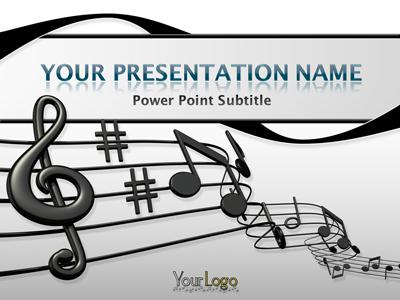music sheet  a powerpoint template from presentermedia, Powerpoint