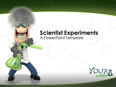 Scientist Experiments A PowerPoint Template from PresenterMedia – Science Powerpoint Template