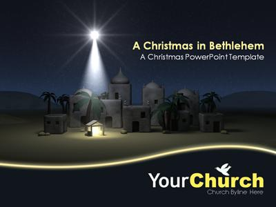 A Christmas In Bethlehem  A Powerpoint Template From