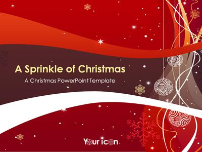 A Sprinkle Of Christmas - A Powerpoint Template From
