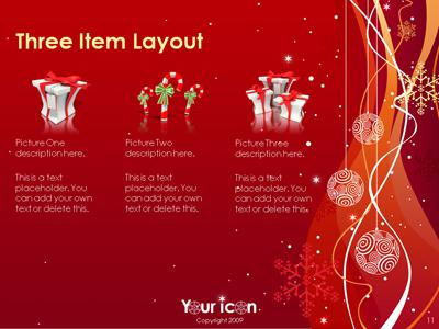 A Sprinkle Of Christmas A Powerpoint Template From Presentermedia