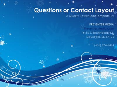 Winter Swirl - A Powerpoint Template From Presentermedia.Com