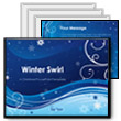 Winter Swirl PowerPoint template