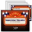ID# 389 Superstar Theater PowerPoint Template