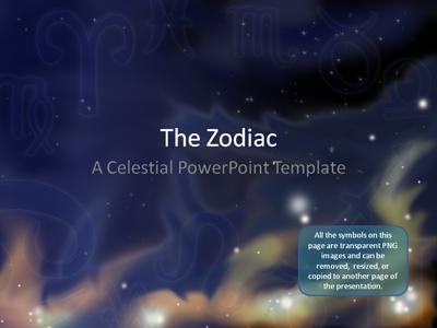 Zodiac stars a powerpoint template from presentermedia powerpoint template toneelgroepblik Images