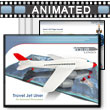 ID# 403 Jet Airplane with Travel Map PowerPoint Template
