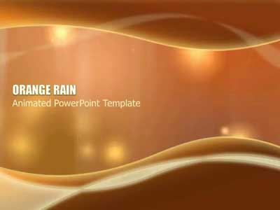 ID# 406 - Orange Rain - PowerPoint Template