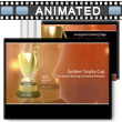 Golden Trophy PowerPoint template