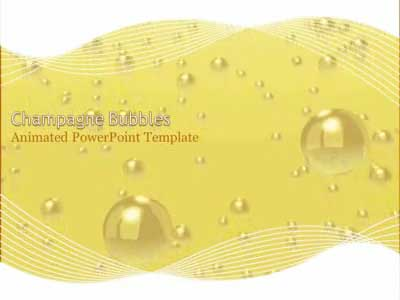 ID# 409 - Champagne Bubbles Celebration - PowerPoint Template