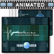 ID# 410 Blue Heartbeat PowerPoint Template