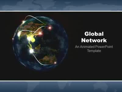 Global Network - A Powerpoint Template From Presentermedia.Com