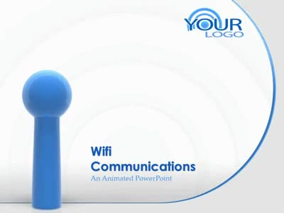 ID# 1865 - wifi wireless internet symbol  - PowerPoint Template